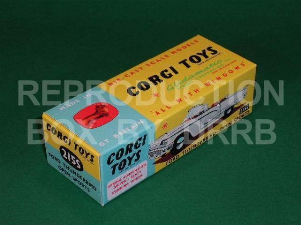 Corgi #215S Ford Thunderbird Open Sports (suspension) - Reproduction Box